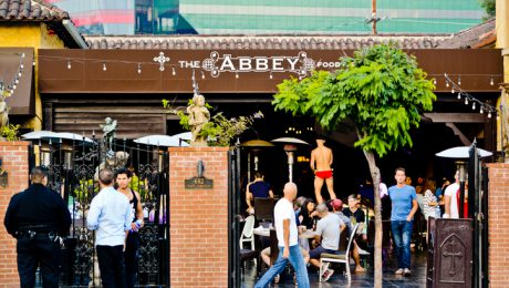 West Hollywood, CA, USA - June 1, 2013: The Abbey food and Drink well known gay bar, restaurant in West Hollywood, where third of population proclaiming themselves as gays.